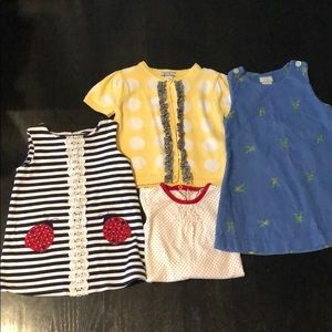Lot bundle of toddler girl outfit dresses